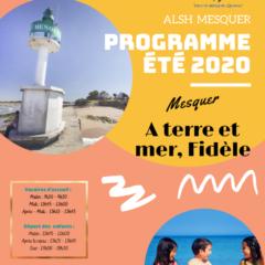 PROGRAMME ETE 2020